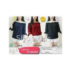 Shoplous Blouse Sabrina / Sabrina Yumiko / Baju kerja/ Baju Casual / Baju Jalan