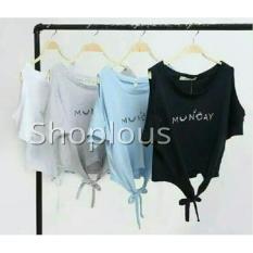 Shoplous Dayone /Kaos Tumbler / Kaos Spandex/ Kaos Fashion / Baju Crop tee/ Tee Murah / tee fashion