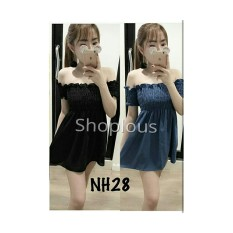 Shoplous Dress mini wanita/ Dress Mikio/ Dress brukat/ Dress Simpel/ Dress Wanita Murah /Dress Sabrina/