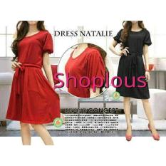 Shoplous Dress Wanita Tata / Dress casual / Dress Wanita / Dress Hamil  /Dress pita / Dress wanita / Dress cewe / Dress Modis / Dress natalia / Dress Hitam