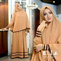 Shoppaholic Shop Baju Gamis Muslim Wanita Syari Najwa - Coklat Susu / Dress Muslimah / Hijab Muslim / Gamis Syari / Baju Muslim / Fashion Muslim / Fashion Maxi / Setelan Muslim / Atasan Muslimah