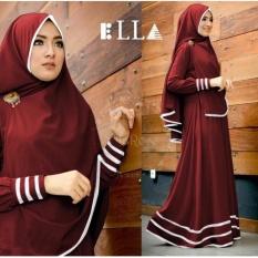 Shoppaholic Shop Baju Gamis Muslim Syari Najwa - Maroon / Dress Muslimah / Hijab Muslim / Gamis Syari / Baju Muslim / Fashion Muslim / Fashion Maxi / Setelan Muslim / Atasan Muslimah