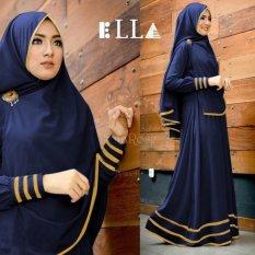 Shoppaholic Shop Baju Gamis Muslim Syari Najwa - Navy / Dress Muslimah / Hijab Muslim / Gamis Syari / Baju Muslim / Fashion Muslim / Fashion Maxi / Setelan Muslim / Hijab Wanita