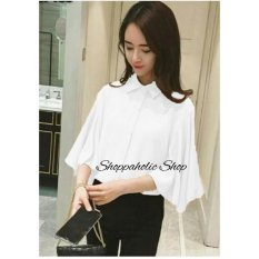 Shoppaholic Shop Blouse Wanita Batwing Gita Putih / Baju Wanita / Blouse Korea / Atasan Wanita / Baju Formal / Kemeja Wanita / Kemeja Formal / Atasan Muslim / Kemeja Cewek Tunik / Kemeja Kerja / Kemeja Katun / Baju Wanita / Baju Kerja