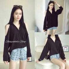 Jual Shoppaholic Shop Hem Blouse Nagita Black Original