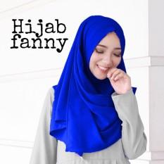 Shoppaholic Shop Hijab Instan Pasmina Fanny - Biru / Dress Muslimah / Hijab Muslim / Gamis Syari / Baju Muslim / Fashion Muslim / Dress Muslim / Fashion Maxi / Setelan Muslim / Atasan Muslimah/ Jilbab / Pashmina