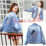 Tips Beli Shoppaholic Shop Jaket Jeans Wanita Flamingo Biru Muda Denim Jacket Jaket Denim Jaket Wanita Ripped Jaket Yang Bagus