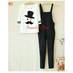 Shoppaholic Shop Jumpsuit Wanita Panjang - Gratis Kaos Kumis / Jamsuit Wanita / Jamsuit / Setelan Wanita / Celana Panjang Wanita / Baju Setelan