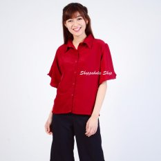 Harga Shoppaholic Shop Kemeja Wanita Geena Maroon Dki Jakarta
