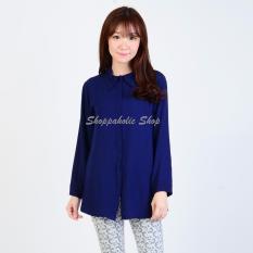 Harga Shoppaholic Shop Kemeja Wanita Siska Navy Shoppaholic Shop Dki Jakarta