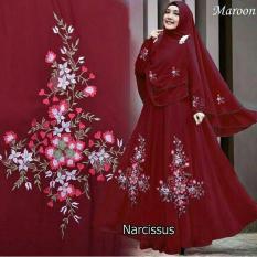Shoppaholic Shop Maxi Hijab Syari Narcisus - Maroon / Dress Muslimah / Hijab Muslim / Gamis Syari / Baju Muslim / Fashion Muslim / Dress Muslim / Fashion Maxi / Setelan Muslim / Atasan Muslimah