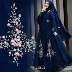 Shoppaholic Shop Maxi Hijab Syari Narcisus - Navy / Dress Muslimah / Hijab Muslim / Gamis Syari / Baju Muslim / Fashion Muslim / Dress Muslim / Fashion Maxi / Setelan Muslim / Atasan Muslimah