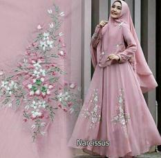 Shoppaholic Shop Maxi Hijab Syari Narcisus - Salem / Dress Muslimah / Hijab Muslim / Gamis Syari / Baju Muslim / Fashion Muslim / Dress Muslim / Fashion Maxi / Setelan Muslim / Atasan Muslimah