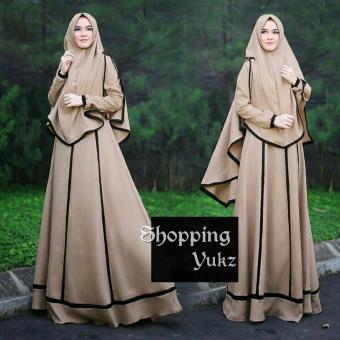Flavia Store Long Dress Lengan Panjang Kotak Fs0406 Hitam Gamis Gaun Source · Shopping Yukz Baju