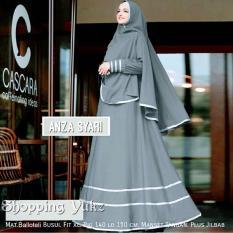 Shopping Yukz Baju Gamis Dress Muslim Syari Wanita ANZA ( Dapat Jilbab ) / Hijab Muslimah / Baju Muslimah Wanita / Syari Syari'i Muslim / Gaun Muslim / Long Dress Muslimah Wanita