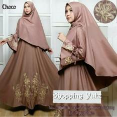 Shopping Yukz Baju Gamis Dress Muslim Syari Wanita EYYA BORDIR - MILO ( Dapat Jilbab ) / Hijab Muslimah / Baju Muslimah Wanita / Syari Syari'i Muslim / Gaun Muslim / Long Dress Muslimah Wanita
