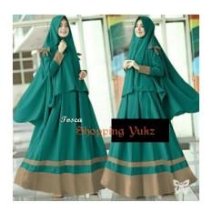 Shopping Yukz Baju Gamis Maxi Dress Muslim Wanita Syari 2in1 AIRYA ( Dapat Jilbab ) / Dress Muslim