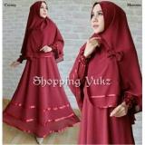 Jual Shopping Yukz Baju Gamis Muslim Syari Fitri Maroon Dapat Jilbab Dress Muslim Fashion Muslim Baju Muslimah Gaun Muslim Gamis Wanita Hijab Muslim Gamis Murah Termurah