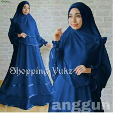 Shopping Yukz Baju Gamis Muslim Syari FITRI - NAVI ( Dapat Jilbab ) /Dress Muslim / Fashion Muslim / Baju Muslimah / Gaun Muslim / Gamis Wanita / Hijab Muslim/ Gamis Murah