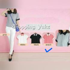 Harga Shopping Yukz Blouse Lengan Pendek Wanita Kalerin Peach Kemeja Cewek Kemeja Kerja Wanita Atasan Wanita Kemeja Fashion Fashion Wanita Baju Kerja Wanita Yg Bagus