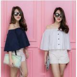 Spesifikasi Shopping Yukz Blouse Wanita Sabrina Button Putih Shopping Yukz