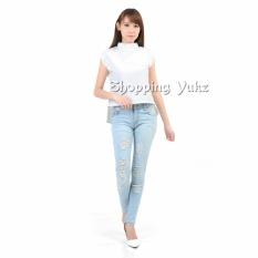 Harga Shopping Yukz Blouse Wanita Viena Putih New