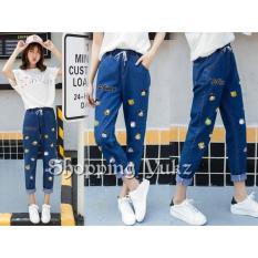 Spesifikasi Shopping Yukz Celana Jeans Wanita Desniy Kualitas Premium Dark Blue Celana Panjang Wanita Jeans Pants Celana Wanita Celana Kartun Celana Bordir Celana Emboss Jeans Wanita Murah Berkualitas