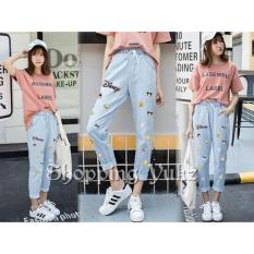 Jual Shopping Yukz Celana Jeans Wanita Desniy Kualitas Premium Soft Blue Celana Panjang Wanita Jeans Pants Celana Wanita Celana Kartun Celana Bordir Celana Emboss Jeans Wanita Dki Jakarta