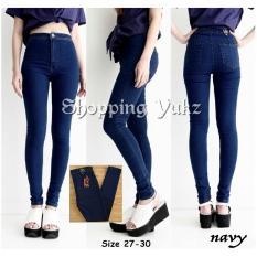 Shopping Yukz Celana Jeans Wanita Skinny Highwaist Hunny Navy Kualitas Premium Celana Panjang Jeans Wanita Highwaist Jeans Celana Wanita Jeans Wanita Long Pants Highwaist Shopping Yukz Murah Di Dki Jakarta