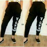 Jual Shopping Yukz Celana Wanita Jogger York Black Shopping Yukz Ori