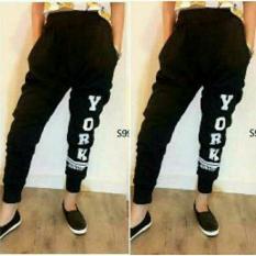 Beli Shopping Yukz Celana Wanita Jogger York Black Jawa Barat