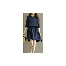 Shopping Yukz Dress Wanita LEIYA - NAVI / Dress Mini Wanita / Dress Tunik Wanita / Tunik Wanita Murah / Kemeja Tunik Wanita / Dress Korea / Dress Murah / Atasan Dress Wanita / Gaun Remaja / Gaun Cewek / Gaun Wanita Murah