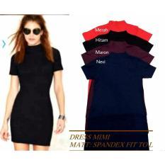Beli Shopping Yukz Dress Wanita Mimi Merah Baru
