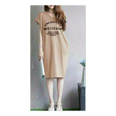 Shopping Yukz Midi Dress Wanita VIVE - CREAM / Dress Kaos Wanita / Dress T-shirt Wanita / Gaun Kaos Wanita / Dress Santai Wanita / Gaun Remaja/ Gaun Kasual / Dress Casual Wanita / Dress Murah / Dress Gaul / Dress Modern / Gaun Murah / Gaun Modern