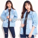 Shopping Yukz Jaket Jeans Big Size Wanita Rara Soft Blue Kualitas Premium Jaket Jumbo Oversize Jacket Jaket Wanita Jaket Denim Jeans Jacket Murah