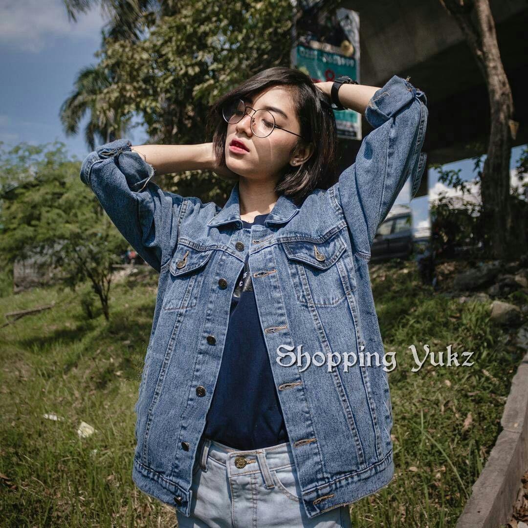 Shopping Yukz Jaket Jeans Denim Big Size Wanita RARA SNOW - DARK BLUE  (Kualitas Premium 98c0fa181b