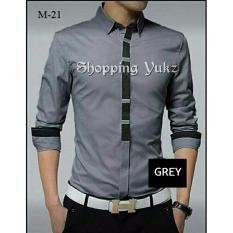 Spek Shopping Yukz Kemeja Pria Lengan Panjang Hero Grey Kemeja Formal Pria Kemeja Casual Pria Baju Pria Atasan Pria Kemeja Kerja Shopping Yukz