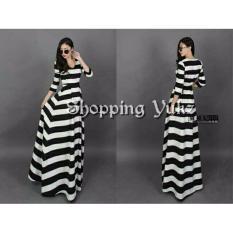 Shopping Yukz Long Dress Maxy Stripe Wanita Rilie - HP / Long Dress Wanita/ Gaun Panjang/ Gaun Maxi / Gaun Wanita / Dress Muslim