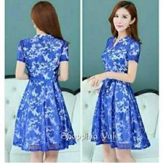 Shopping Yukz Midi Dress Brukat Wanita LILITA - BENHUR / Dress Korea / Dress Renda / Lace Dress / Gaun Pesta / Gaun Midi / Dress Pesta / Dress Formal / Gaun Formal