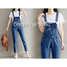 Review Tentang Shopping Yukz Overall Jumpsuit Jeans Wanita Astry Tanpa Inner Dark Blue Baju Kodok Jumpsuit Jeans Ripped Jeans