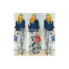 Shopping Yukz Setelan Kulot Wanita Cornelia - NAVY ( Tanpa Pashima) / Stelan Muslimah / Baju Muslim / Stelan Kulot