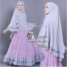 Shopping Yukz Baju Gamis Maxi Dress Muslim Wanita Syari 2in1 BELLA LAVENDER - ABU ( Dapat Jilbab ) / Dress Muslim / Gamis Wanita / Baju Muslim / Hijab Muslim / Fashion Muslim / Syar'i Muslim / Maxi Dress Lengan Panjang / Gamis Modern