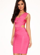 Paket Pendek Hip Herve Leger Dress Up Sexy Club Deep V Dress