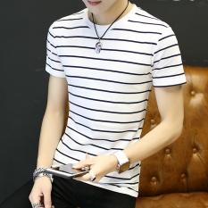 T Shirt Lengan Pendek Pria V Neck Baru Pria Summer Trend Stripe Pria Pakaian Menumbuhkan Moralitas Seseorang Shirt Intl Di Tiongkok
