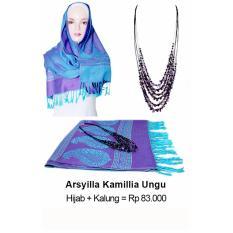 Shvana Arsyilla Kamillia Ungu (Pashmina + Kalung)