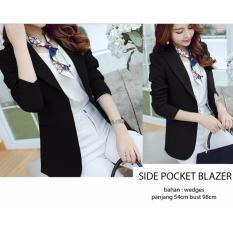 Side Pocket Blazer Anggun Cantik Menarik Dan Murah Promo Beli 1 Gratis 1