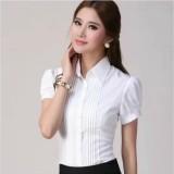 Jual Sifon Baru Ukuran Besar Slim Lengan Panjang Atasan Kemeja Putih Putih Polos Lengan Pendek Baju Wanita Baju Atasan Kemeja Wanita Blouse Wanita Ori