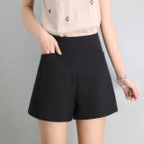 Spesifikasi Sifon Perempuan Longgar Pinggang Tinggi Bagian Tipis Celana Kasual Celana Pendek Hitam Online