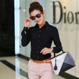 Jual Berrykega Kemeja Formal Wanita Bahan Sifon Ekstra Bulu Lengan Pendek Panjang Hitam Lengan Panjang Di Bawah Harga