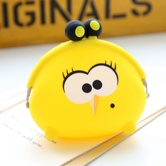 Kantong Uang Kecil Kartun Perempuan Dompet Koin Silikon Gesper (Mak comblang ayam-kuning)